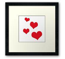 Beautiful hearts Framed Print