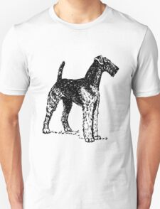 Airedale Terrier Drawing T-Shirt