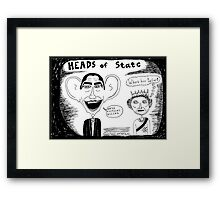 President Obama and Queen Elizabeth II Framed Print