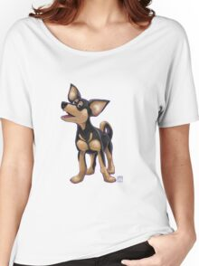 Animal Parade Chihuahua Silhouette Women's Relaxed Fit T-Shirt