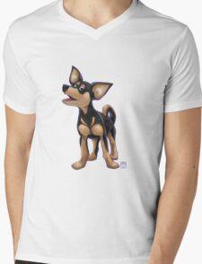 Animal Parade Chihuahua Silhouette Mens V-Neck T-Shirt