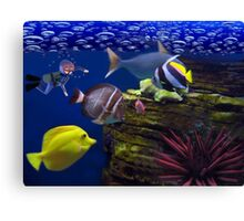 <º))))>< <º))))>< Diving Looking At Those Beautiful Fish<º))))>< <º))))><  Canvas Print