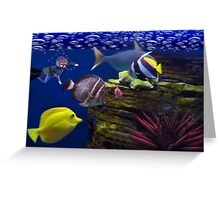 <º))))>< <º))))>< Diving Looking At Those Beautiful Fish<º))))>< <º))))><  Greeting Card