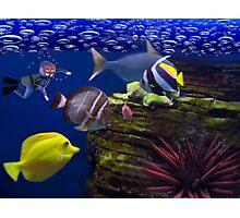 <º))))>< <º))))>< Diving Looking At Those Beautiful Fish<º))))>< <º))))><  Photographic Print