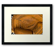 flea market catcher's mitt Framed Print