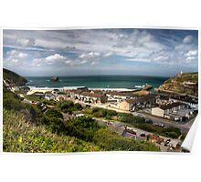 Portreath from the hillside Poster