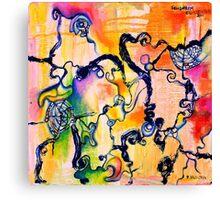 Schlieren Chiarascuro, original abstract oil painting by Regina Valluzzi Canvas Print