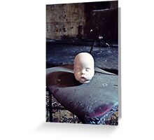 The Chair's Occupant ~ Sleaford Bass Maltings Greeting Card
