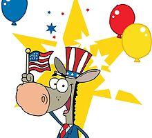 Democratic Donkey by Edmond  Hogge