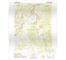 USGS Topo Map California Weed Valley 295687 1990 24000 Poster