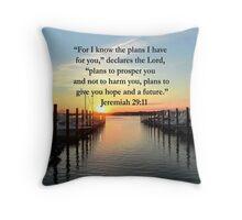 BEAUTIFUL JEREMIAH 29:11 SUNSET PHOTO Throw Pillow