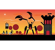 Patapon battle at dawn Photographic Print