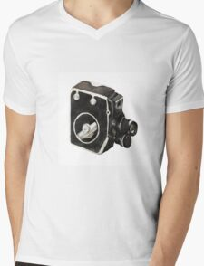Vintage video camera Mens V-Neck T-Shirt