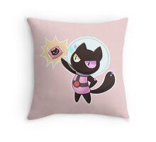 Cookie Cat Throw Pillow