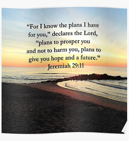 PEACEFUL JEREMIAH 29:11 PHOTO DESIGN Poster