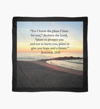 PEACEFUL JEREMIAH 29:11 PHOTO DESIGN Scarf