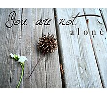 You are not alone Photographic Print