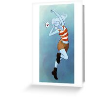 Cloudy J Greeting Card
