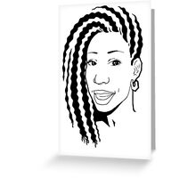 Wavy Black and White  Greeting Card