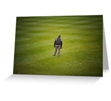 Lost in the field of green Greeting Card