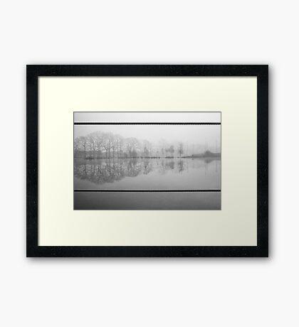 Foggy morning 1 (Reeshofpark series) Framed Print