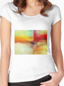 Modern art Women's Fitted Scoop T-Shirt