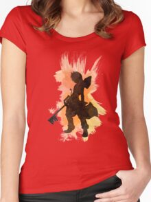 Kingdom Hearts: Watercolor Roxas Women's Fitted Scoop T-Shirt