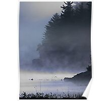 Cabin in the Mist, Kennebec Lake, Ontario Poster