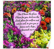 PRETTY PURPLE JEREMIAH 29:11 PHOTO Poster