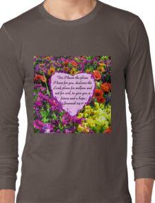 PRETTY PURPLE JEREMIAH 29:11 PHOTO Long Sleeve T-Shirt