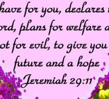 PRETTY PURPLE JEREMIAH 29:11 PHOTO Sticker