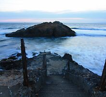 Beach steps at sutro ruins by Cowboy49