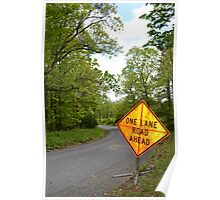 Proceed with caution Poster