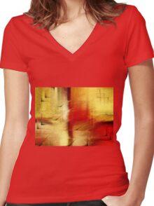 Modern art Women's Fitted V-Neck T-Shirt