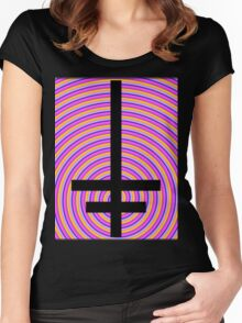 Inverted Psychedelic Cross Women's Fitted Scoop T-Shirt