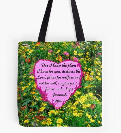 PRETTY YELLOW FLORAL JEREMIAH 29:11 PHOTO Tote Bag