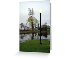 Plaza Pond Greeting Card