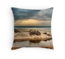 Sunset at Warren Dunes Throw Pillow