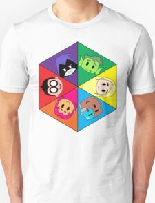 Teen Titans Chibi Hexagon Unisex T-Shirt
