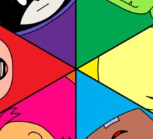 Teen Titans Chibi Hexagon Sticker