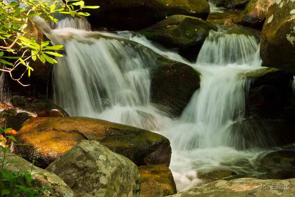 Waterfall on the Roaring Fork Nature Trail by Joe Elliott