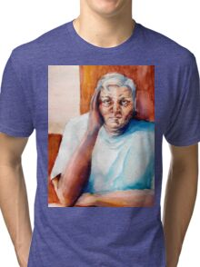 Papa at the Kitchen Table Tri-blend T-Shirt