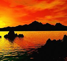 Glorious Sunset by Norma Jean Lipert