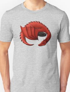 Red Dragon Curled Around Sleeping Cat T-Shirt