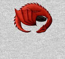 Red Dragon Curled Around Sleeping Cat Unisex T-Shirt