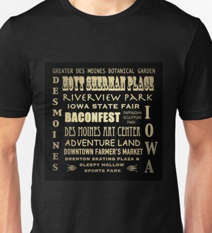 Des Moines Iowa Famous Landmarks Unisex T-Shirt