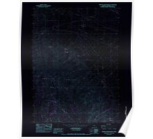 USGS Topo Map Oregon Oregon Canyon Ranch 280997 1982 24000 Inverted Poster
