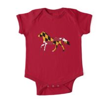 Maryland Flag Horse One Piece - Short Sleeve