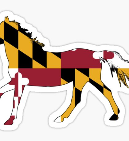 Maryland Flag Horse Sticker