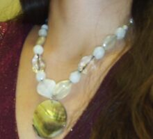 Mother of Pearl Shell Pendant by Bearie23